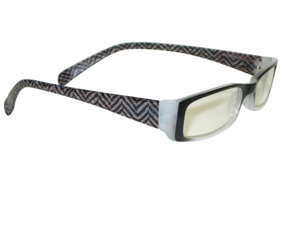 Clere vision reading glasses Herringbone black