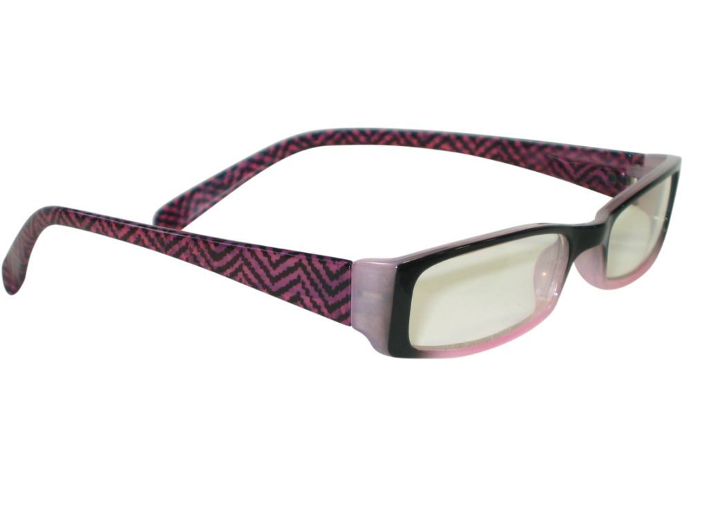 Clere vision reading glasses Herringbone rose
