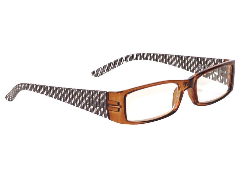 Clere vision reading glasses lattice brown